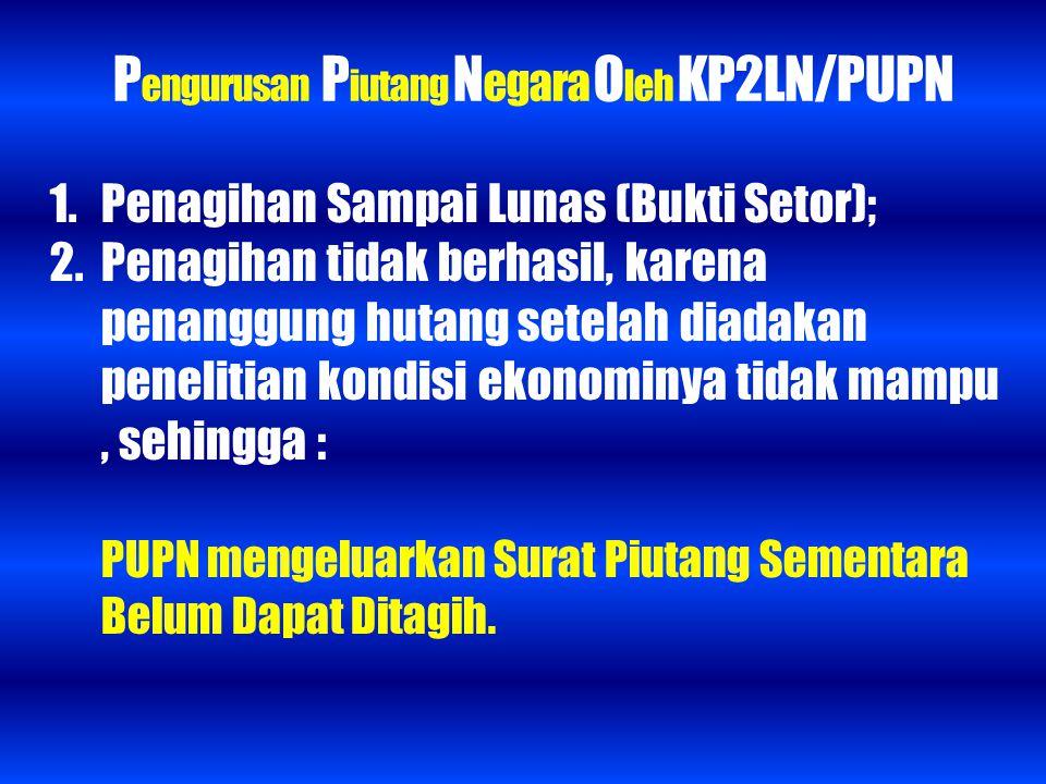Pengurusan Piutang Negara Oleh KP2LN/PUPN