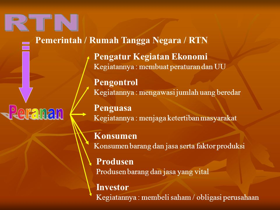Pemerintah / Rumah Tangga Negara / RTN