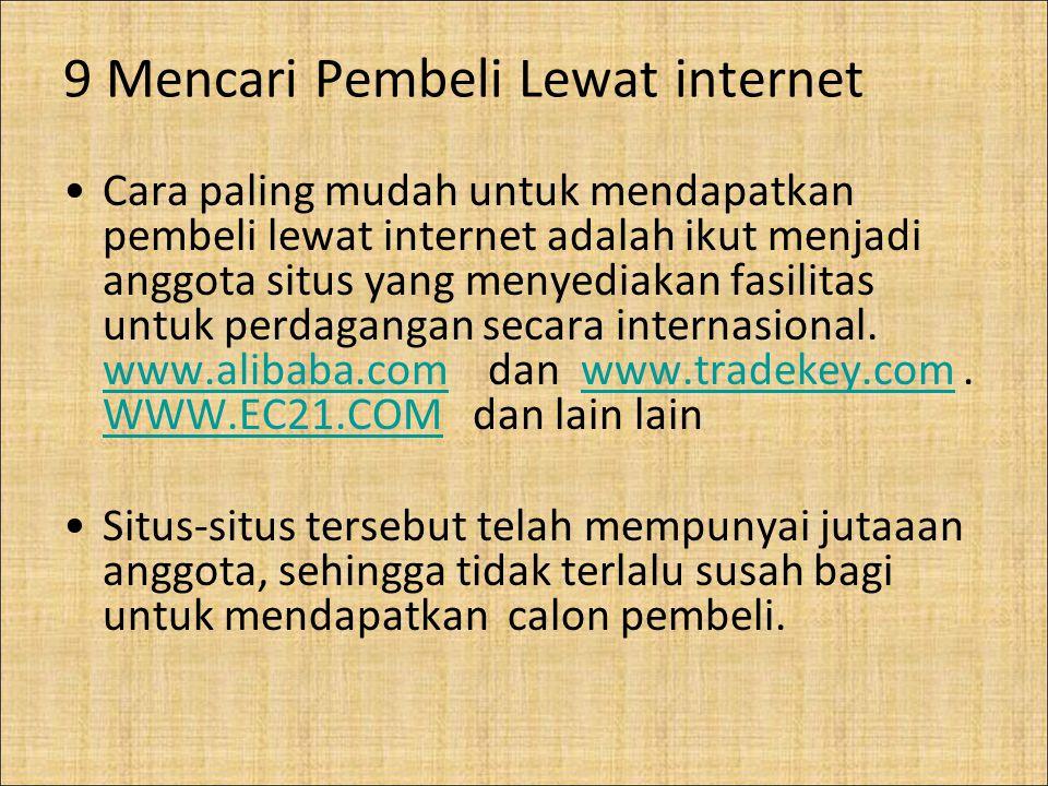 9 Mencari Pembeli Lewat internet