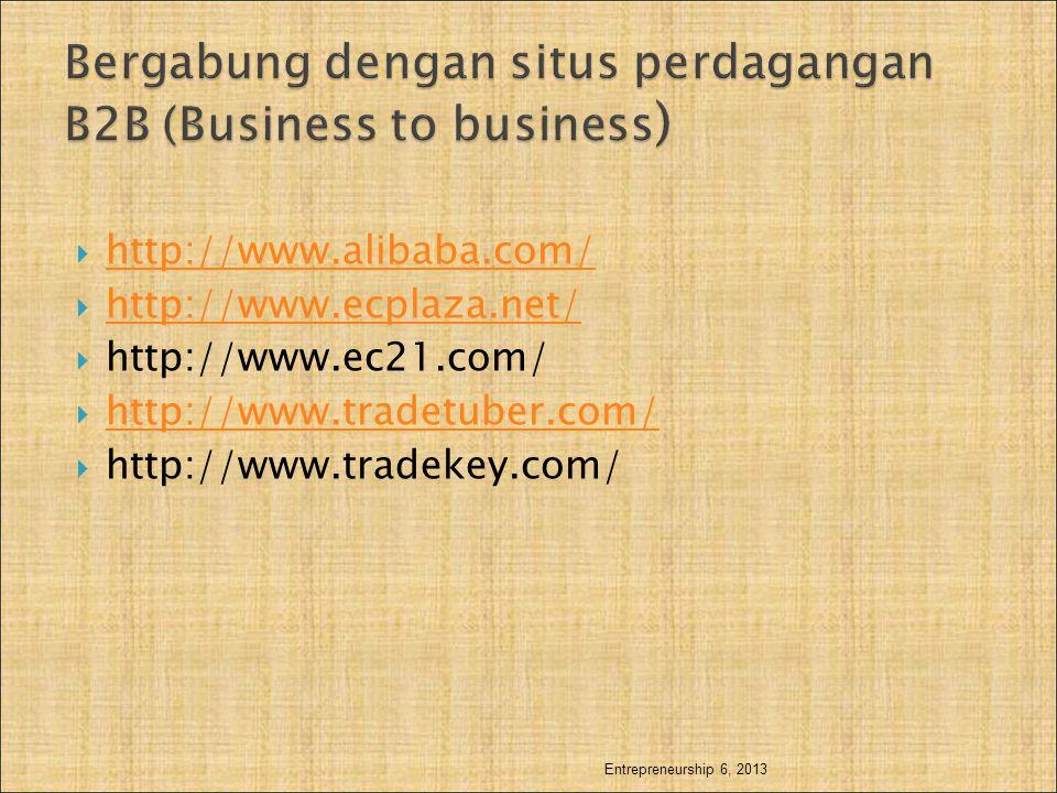 Bergabung dengan situs perdagangan B2B (Business to business)