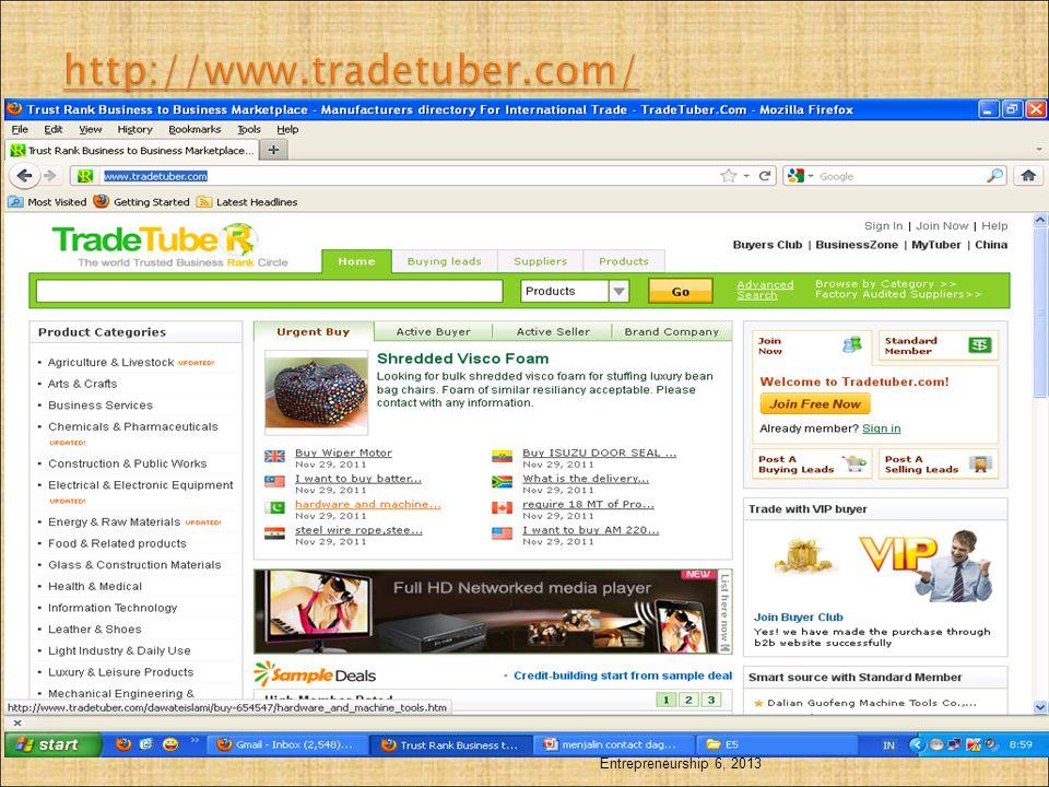 http://www.tradetuber.com/ Entrepreneurship 6, 2013