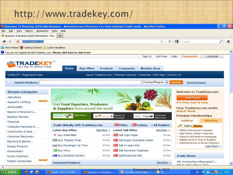 http://www.tradekey.com/ Entrepreneurship 6, 2013