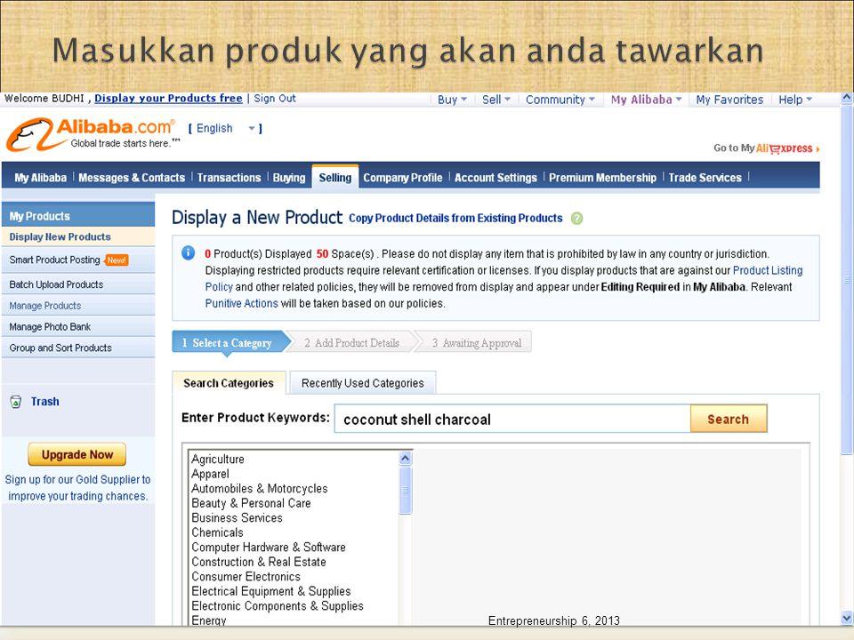 Masukkan produk yang akan anda tawarkan