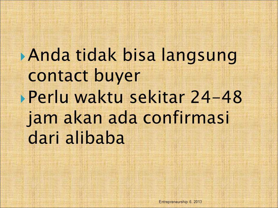 Anda tidak bisa langsung contact buyer