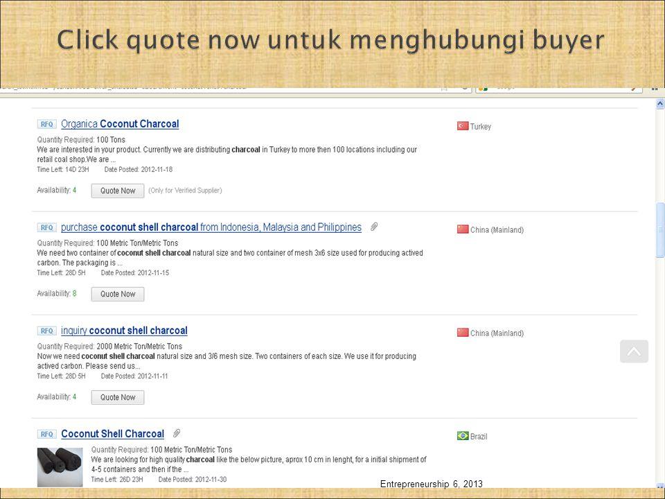 Click quote now untuk menghubungi buyer