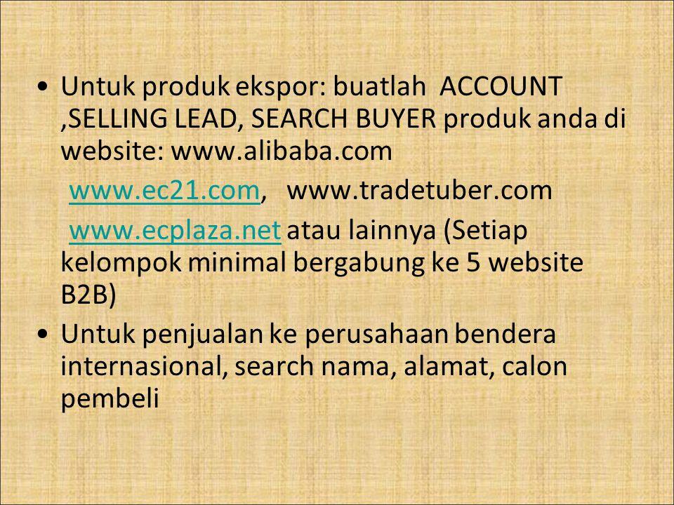 www.ec21.com, www.tradetuber.com
