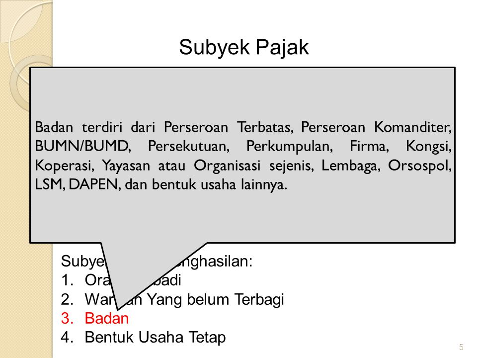 Subyek Pajak
