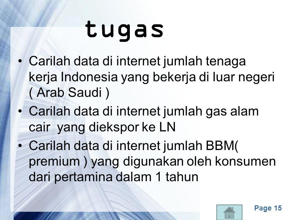 tugas Carilah data di internet jumlah tenaga kerja Indonesia yang bekerja di luar negeri ( Arab Saudi )