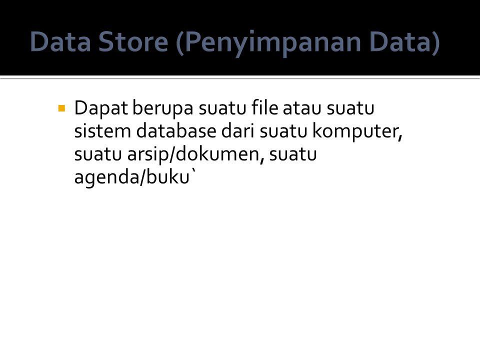 Data Store (Penyimpanan Data)