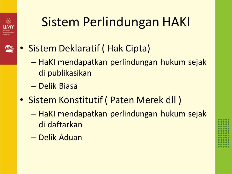 Sistem Perlindungan HAKI