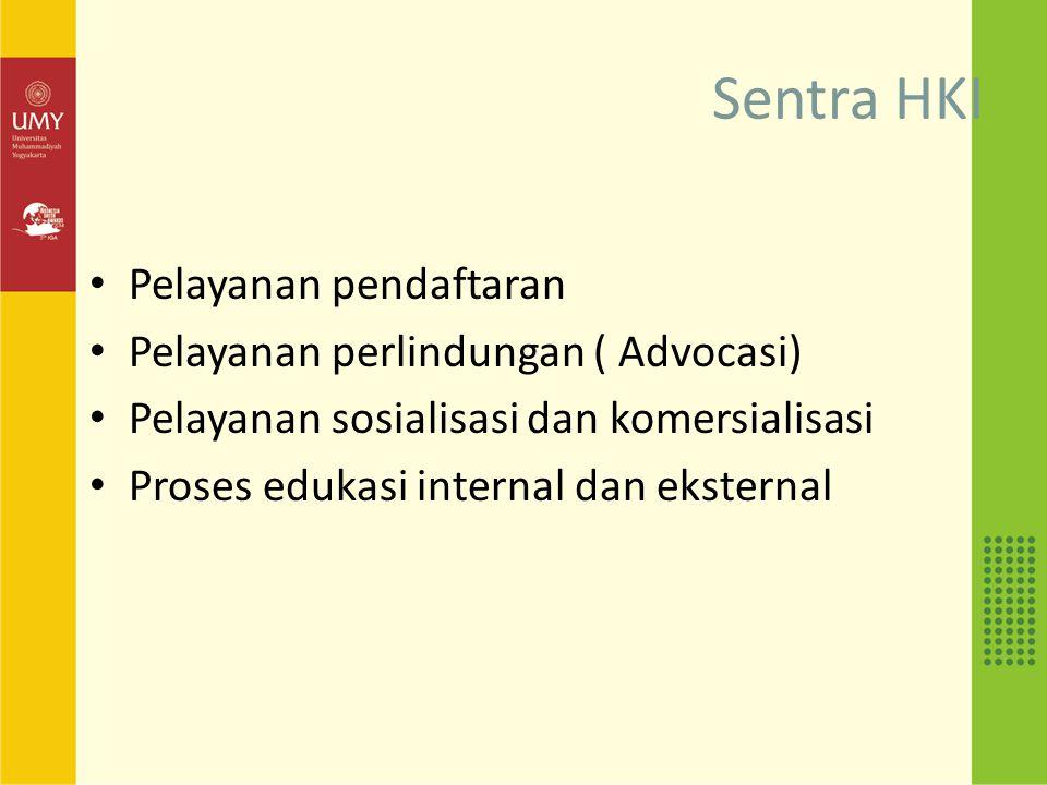 Sentra HKI Pelayanan pendaftaran Pelayanan perlindungan ( Advocasi)