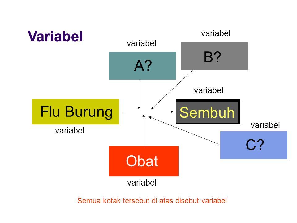 B A Flu Burung Sembuh C Obat Variabel variabel variabel variabel