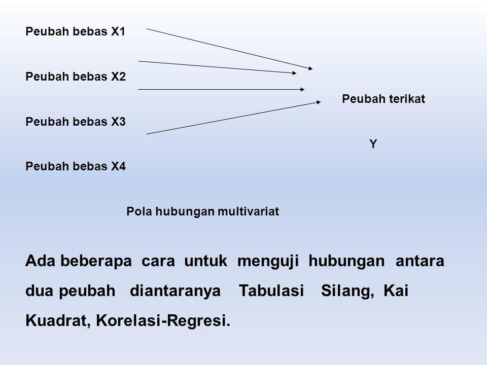 Peubah bebas X1 Peubah bebas X2. Peubah terikat. Peubah bebas X3. Y. Peubah bebas X4. Pola hubungan multivariat.