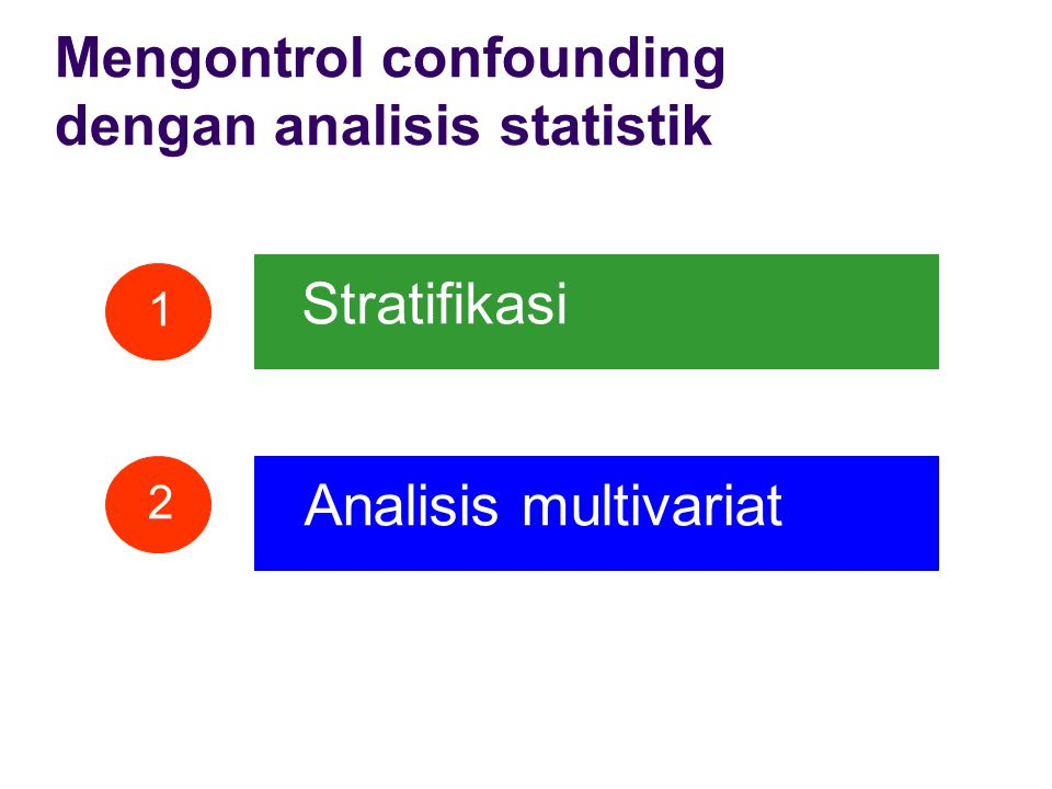 Stratifikasi Analisis multivariat