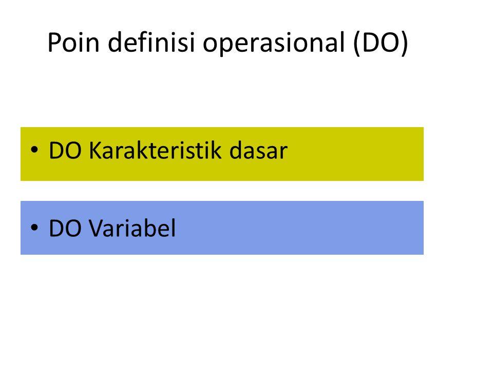 Poin definisi operasional (DO)