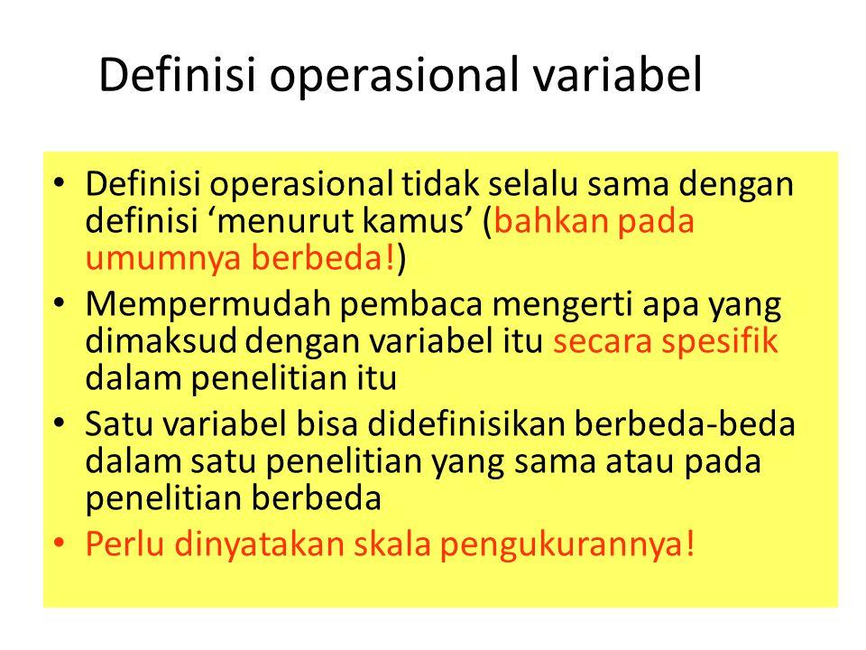 Definisi operasional variabel
