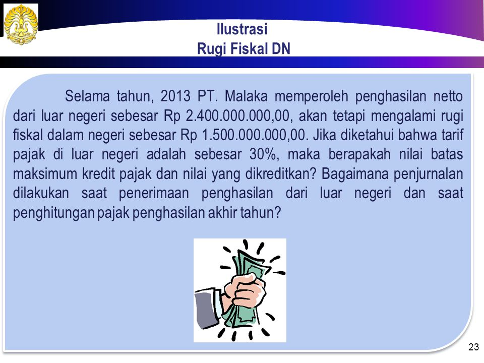 Ilustrasi Rugi Fiskal DN