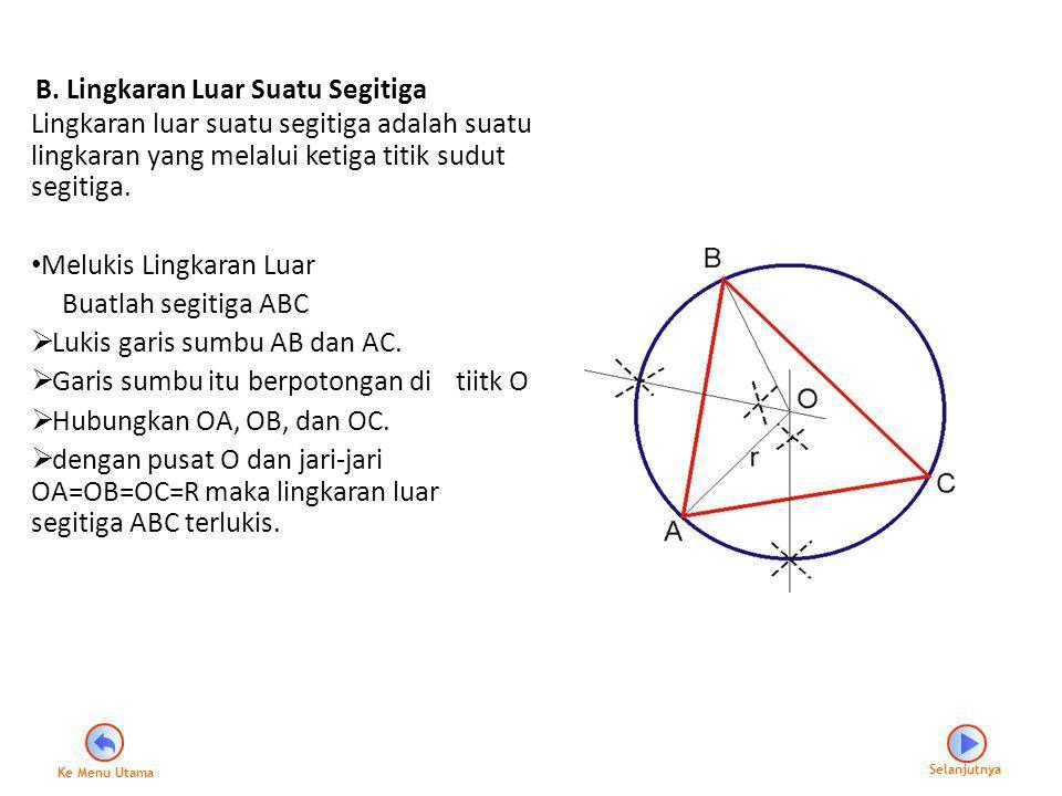 B. Lingkaran Luar Suatu Segitiga