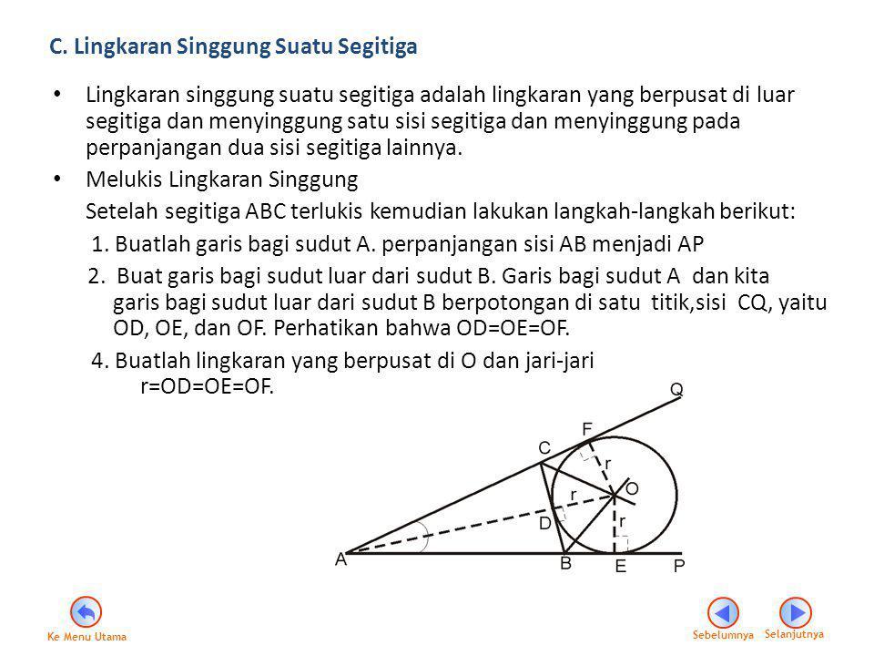 C. Lingkaran Singgung Suatu Segitiga