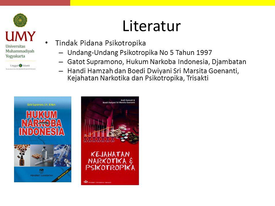 Literatur Tindak Pidana Psikotropika