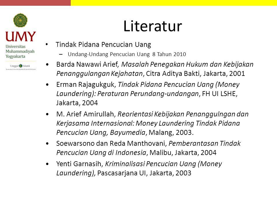 Literatur Tindak Pidana Pencucian Uang