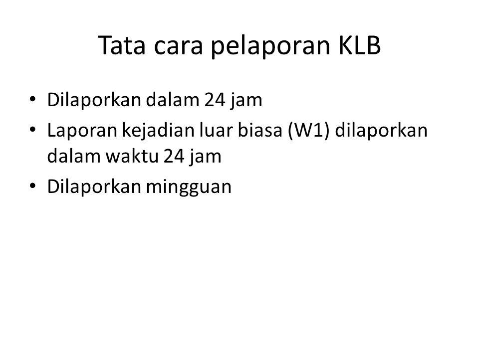 Tata cara pelaporan KLB