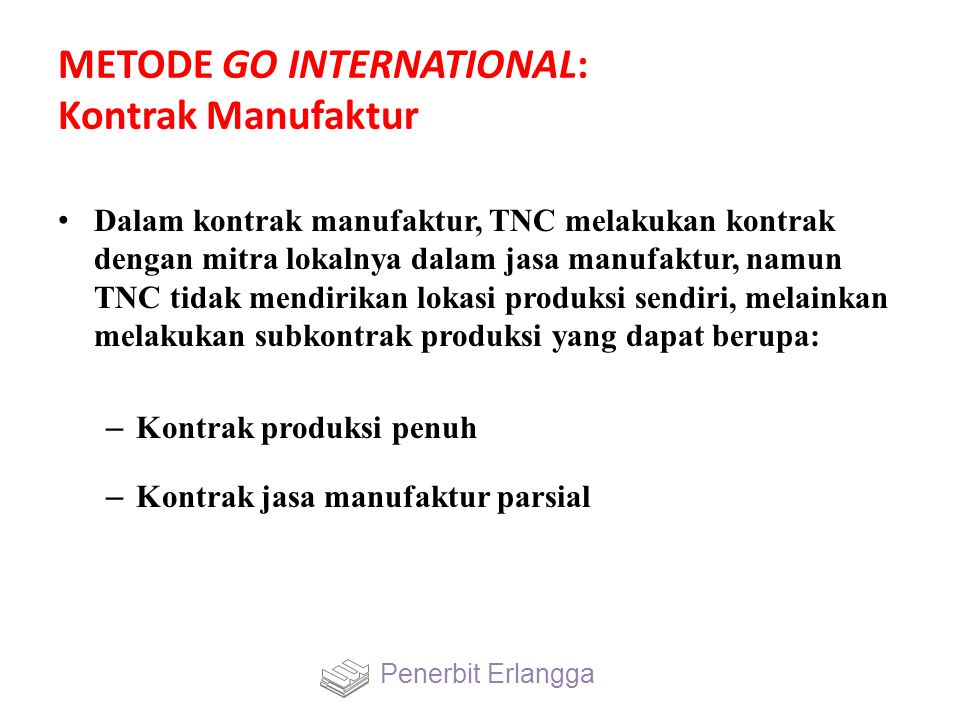 METODE GO INTERNATIONAL: Kontrak Manufaktur