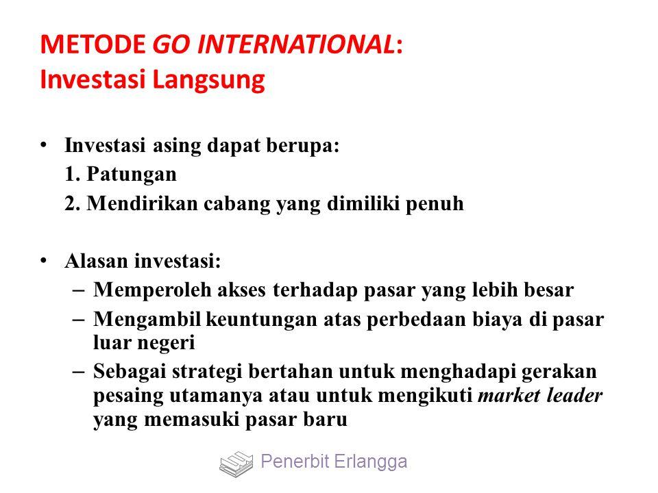 METODE GO INTERNATIONAL: Investasi Langsung