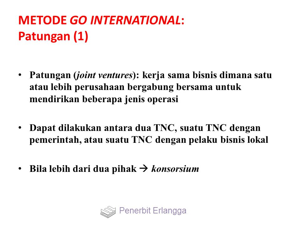 METODE GO INTERNATIONAL: Patungan (1)