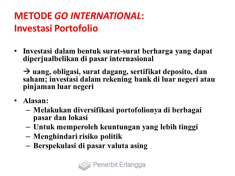 METODE GO INTERNATIONAL: Investasi Portofolio
