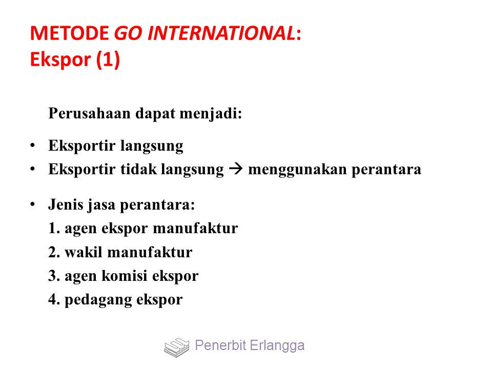 METODE GO INTERNATIONAL: Ekspor (1)