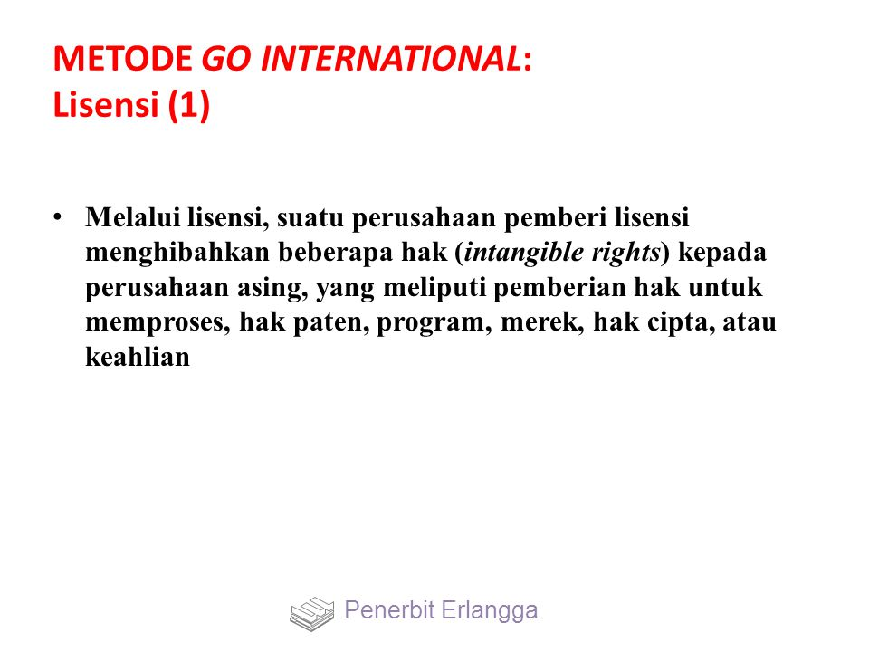METODE GO INTERNATIONAL: Lisensi (1)