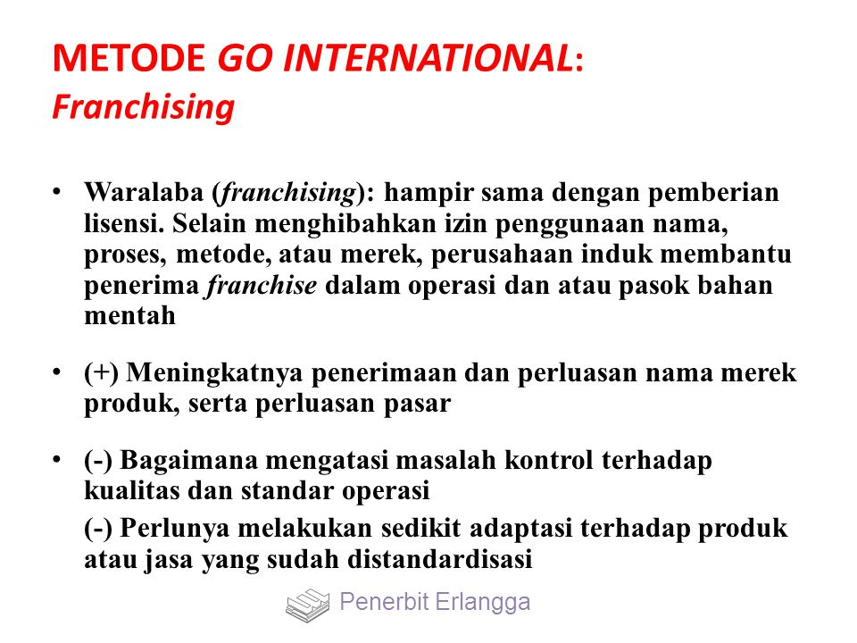METODE GO INTERNATIONAL: Franchising