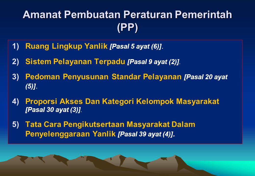 Amanat Pembuatan Peraturan Pemerintah (PP)