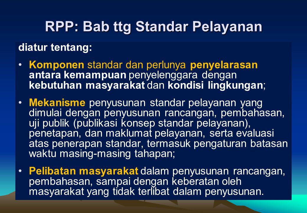 RPP: Bab ttg Standar Pelayanan