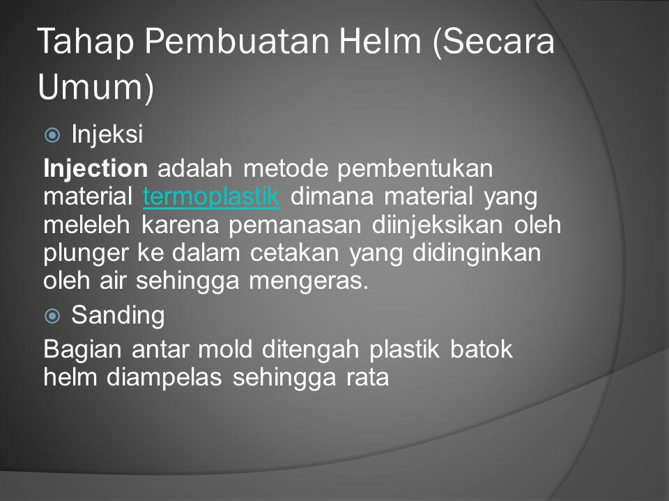 Tahap Pembuatan Helm (Secara Umum)