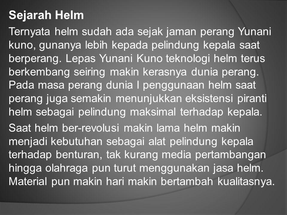 Sejarah Helm