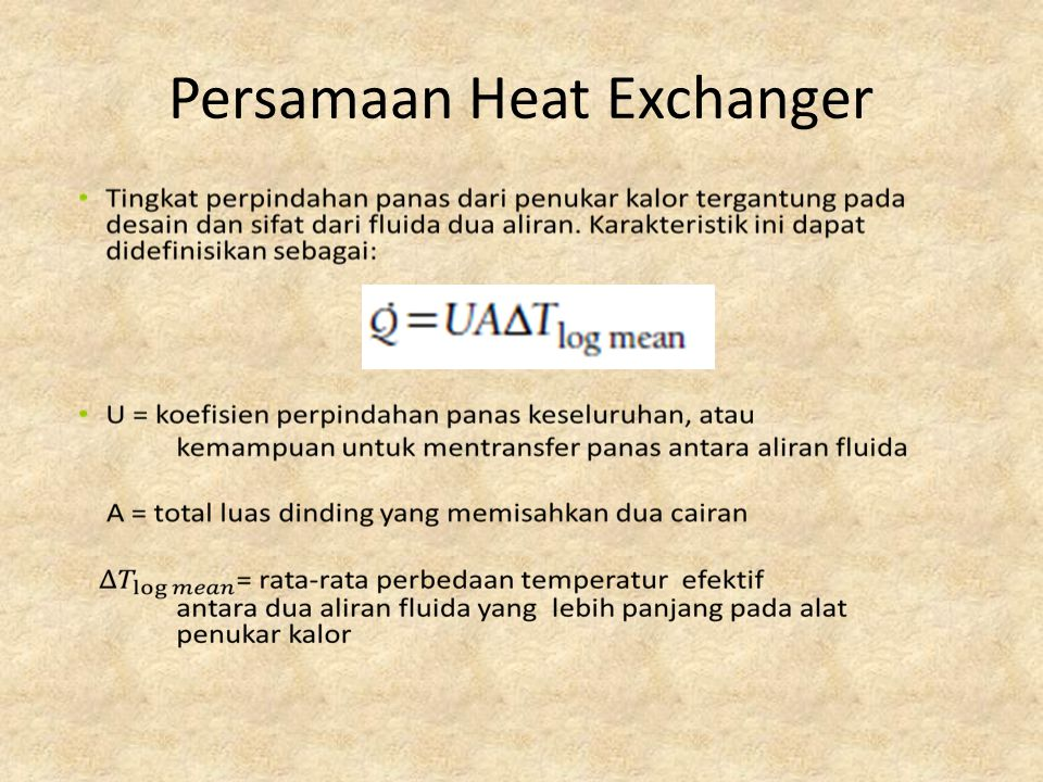 Persamaan Heat Exchanger