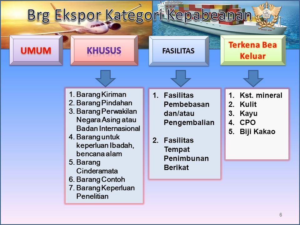Brg Ekspor Kategori Kepabeanan