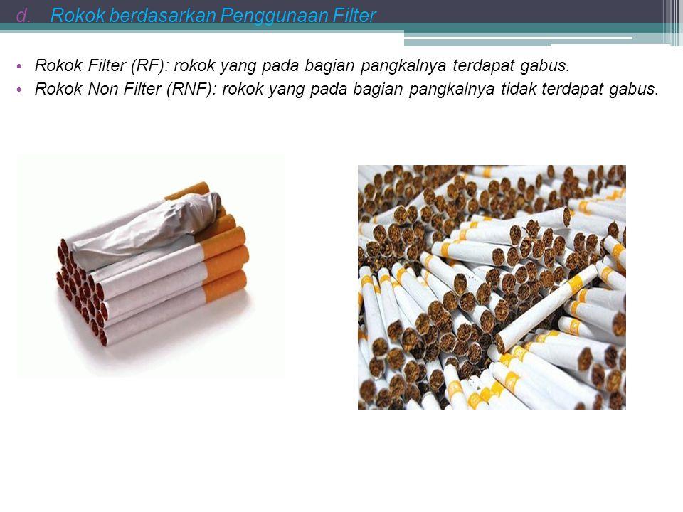 Rokok berdasarkan Penggunaan Filter