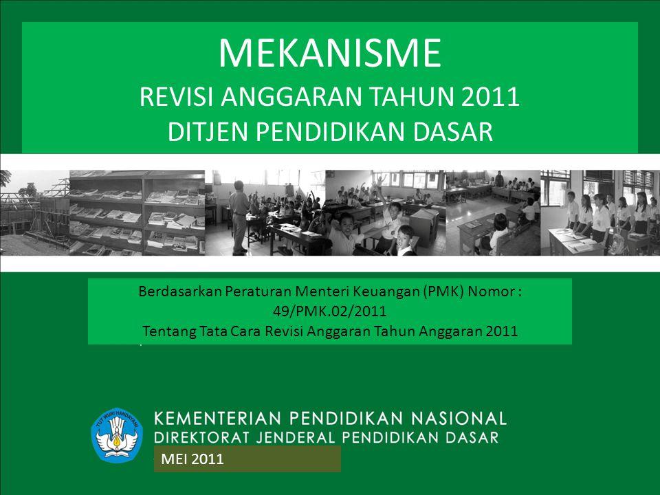 MEKANISME REVISI ANGGARAN TAHUN 2011 DITJEN PENDIDIKAN DASAR