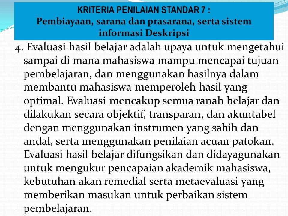 KRITERIA PENILAIAN STANDAR 7 :