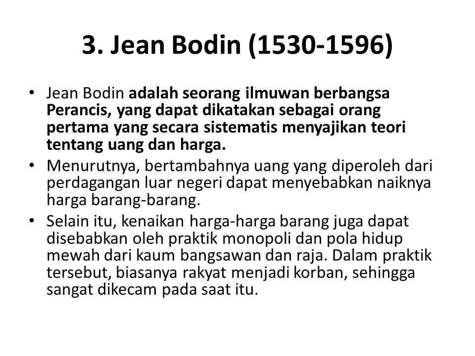 3. Jean Bodin (1530-1596)