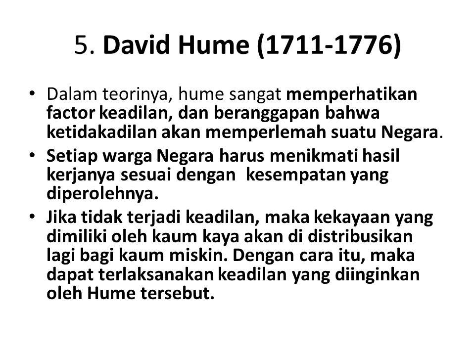 5. David Hume (1711-1776)