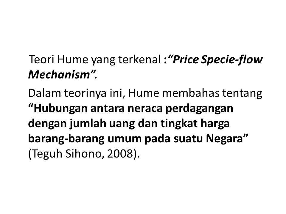 Teori Hume yang terkenal : Price Specie-flow Mechanism