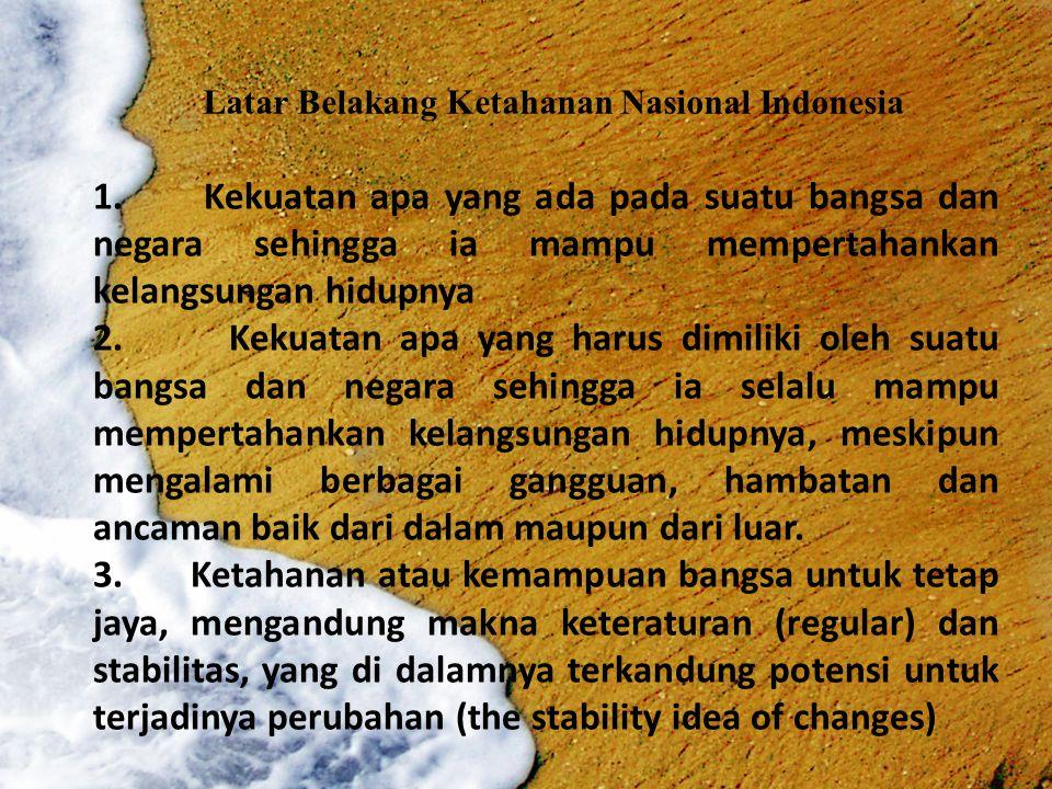 Latar Belakang Ketahanan Nasional Indonesia