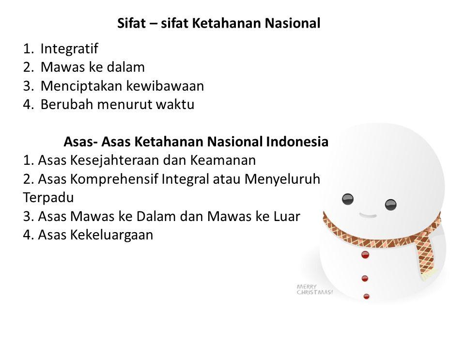 Asas- Asas Ketahanan Nasional Indonesia