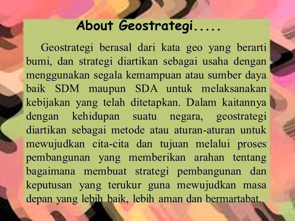 About Geostrategi.....