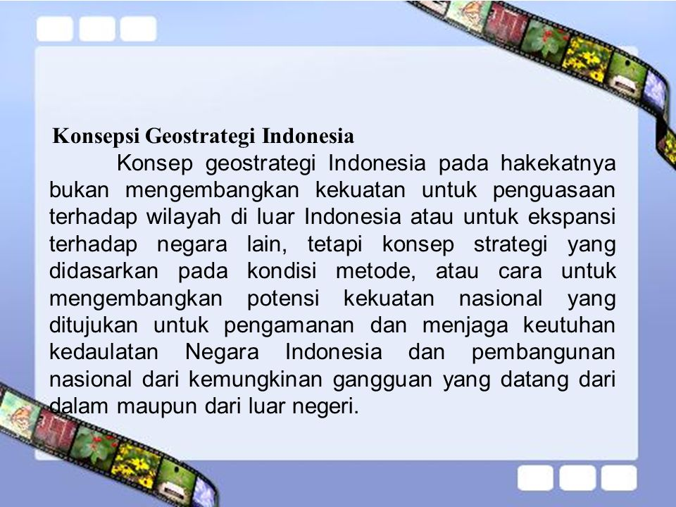 Konsepsi Geostrategi Indonesia