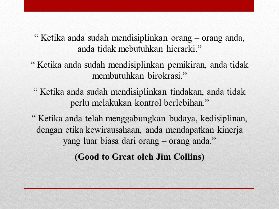 (Good to Great oleh Jim Collins)